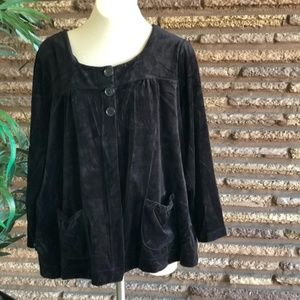 Black Velour Swing Top Avenue Collection